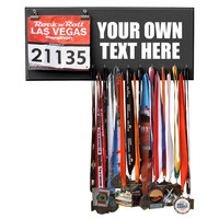 Marathon Medal Bib Display, Holder, Hanger - YOUR OWN TEXT