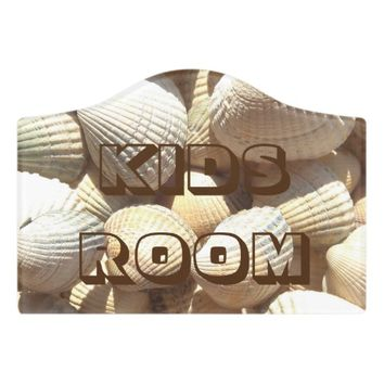 Kids Room Sea Shells Exotic Tropical Romantic Sign Door Sign