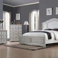 Toulon Antique White King Bedroom Set