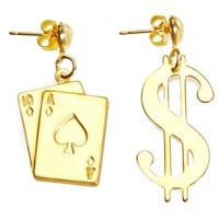 Love Don't Cost A Players Card Earrings