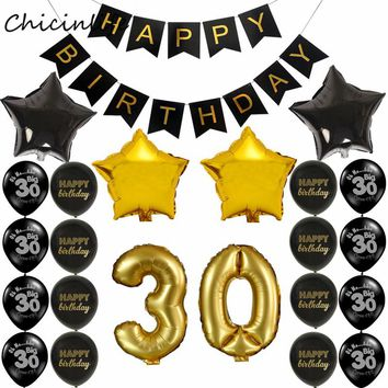 1set Happy Birthday Banner Balloon