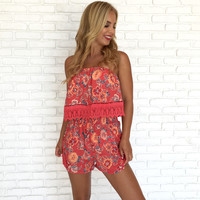 Hawaiian Punch Floral Romper