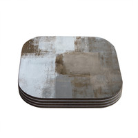 "CarolLynn Tice ""Calm and Neutral"" Coasters (Set of 4) - Outlet Item"