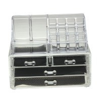 Makeup Organizer Cosmetics Acrylic Clear Case Storage Insert Holder Box Display - Default