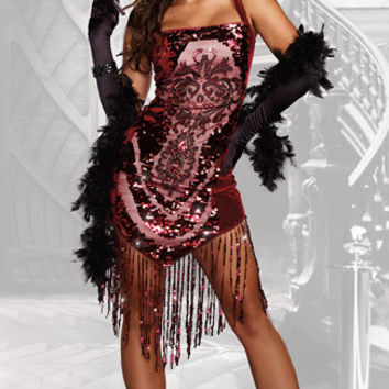 Sequin Gatsby Girl Costume