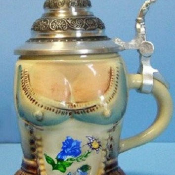 Lady's Dirndl German Beer Stein 0.125L