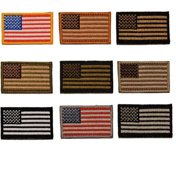 """BuckUp Tactical Morale Patch Hook MINI USA US Flag Forward Facing Patches 2x1"""""""