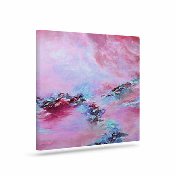 "Ebi Emporium ""Sea To Sky 3"" Pink Abstract Canvas Art"