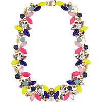 River Island Womens Mixed color pop gem necklace