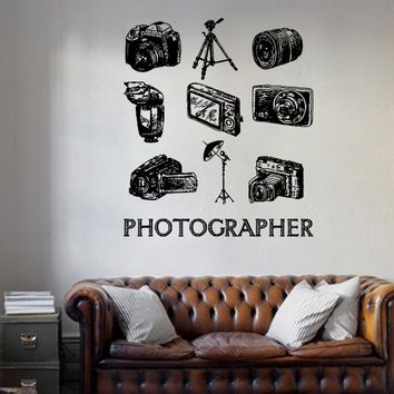 ik1135 Wall Decal Sticker camera film studio photographer