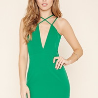 Plunging Strappy Dress