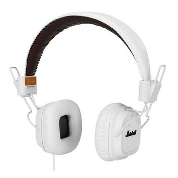 White Leather Headphones by Marshall