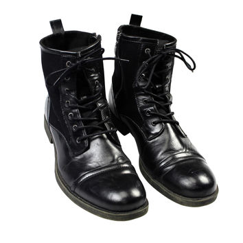 GUESS MGCALEN Military Style Boots in Black Mens Size 12