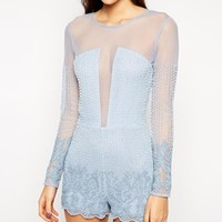 ASOS Premium Playsuit with Pastel Embellishment