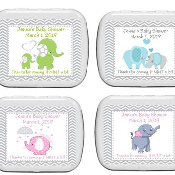 15 Elephant Baby Shower Mint Favors