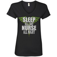 Sleep All Day Nurse All Night Tanks and Tees