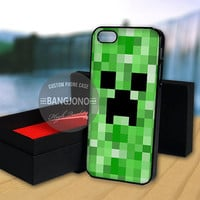 Minecraft Creeper case for Note 2,3-iPod 4th 5th-iPhone 5,5s,5c,4,4s,6,6+[ 2Gtk ]-LG Nexus-HTC One-Samsung Galaxy S3,S4,S5