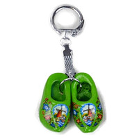Danish Clogs Keychain Green