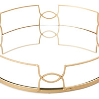 "15"" Mirror Tray, Gold, Decorative Trays"