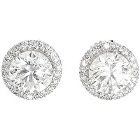 Round Brilliant Cut GIA Cert Diamond Stud Earrings