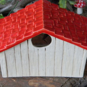 Hamster House - Ceramic Glazed Home  - Dog house for a mouse Rat Mouse Gerbil  habitat guinea pig Toad House