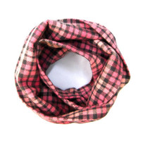 Girls Plaid Scarf Toddler Scarf Pink Plaid Scarf Flannel Scarf Childs Winter Scarf Dark Pink Light Pink Grey Gift Idea Ready to Ship