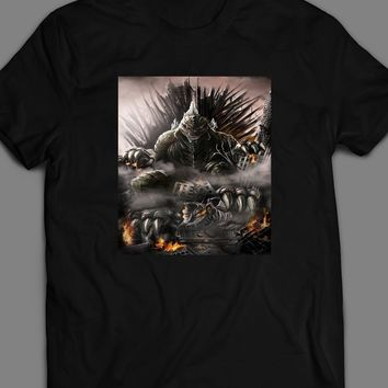 GODZILLA ON THRONE KING OF THE MONSTERS MOVIE INSPIRED T-SHIRT