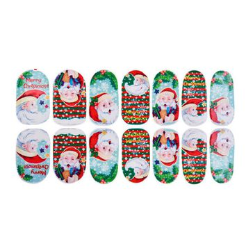 11 Sheets Christmas Nail Art Stickers 3D Design Manicure Tips Decals Wraps Decoration for Women Girls Kids Children