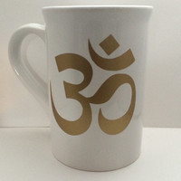 Ohm Coffee Mug, Coffee lovers, Personalized coffe cup, Coffee cup gifts, chakra coffee mug, Yoga coffe mug, chakra gifts, aum gifts