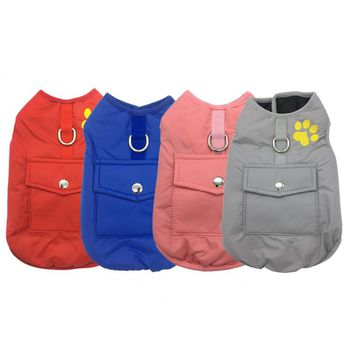 Dog Vest Jacket Warm Two Side Clothes Plaid Waterproof Puppy Pet Clothing Winter Dogs Coat For Small Medium Large Dogs