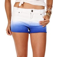 Royal Blue Dip Dye Denim Shorts