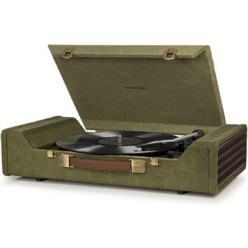 Crosley Nomad Turntable - Green - Take your musical journey anywhere!