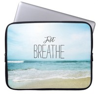 Just Breathe at the Beach Laptop Sleeve