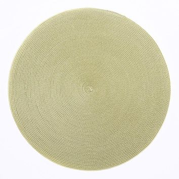 """Indo 2 Tone 15"""" Round Placemat 