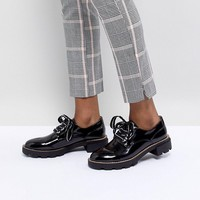 Pull&Bear Lace Up Chunky Brogue at asos.com