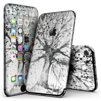 Abstract Black and White WaterColor Vivid Tree - 4-Piece Skin Kit for the iPhone 7 or 7 Plus