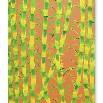 BAMBOO ORANGE Canvas Art By Paint That Ugly Thing