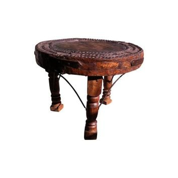 Pre-owned Antique Indian Three Leg Table