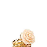 FOREVER 21 Glitzy Rose Ring Set