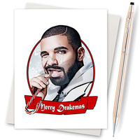 Drake. Merry Drakemas. Christmas Cards Funny. Christmas Card. Gift For Friend. Personalized Cards. Card For Sister. Christmas Card Pack.