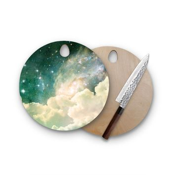 Clouds In Space Round Cutting Board Trendy Unique Home Decor Cheese Board