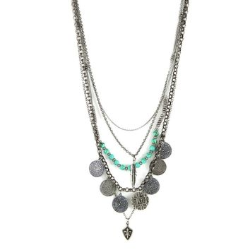 ... 2517a 3e44b Tiny Treasures Necklace in Antique Silver with Turquoise 7fcd8bb9a1dc