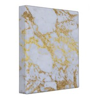 Awesome trendy modern faux gold glitter marble 3 ring binders