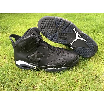 Air Jordan 6 Men Basketball Shoes VI 6S Black Cat Sports Training Sneakers