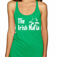 The Irish mafia men st patricks women triblend tanktop