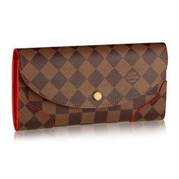PEAPXT3 Louis Vuitton N61221 Damier Canvas Caissa Wallet, Cherry