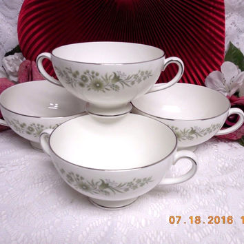 Wedgwood White China Dinnerware WestBury Pattern #: R4410 set 4 Cream soup Bowl
