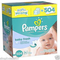 Pampers Wipes 504 Count Box Softcare 7x Baby Diapers Infant Clean Newborn Toys
