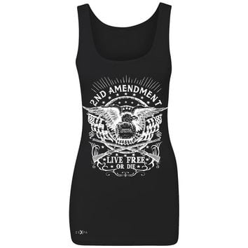 Zexpa Apparel™ 2nd Amendment Live Free or Die Women's Tank Top Gun 1789 Bear Arms Sleeveless