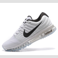 """NIKE"" Trending Fashion Casual Sports Shoes AirMax section White black hook"